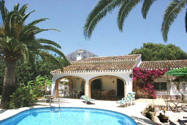 Villa tranquila very tranquil 3 bedroomed villa with private swimming pool in javea on the - The star shaped villa ...